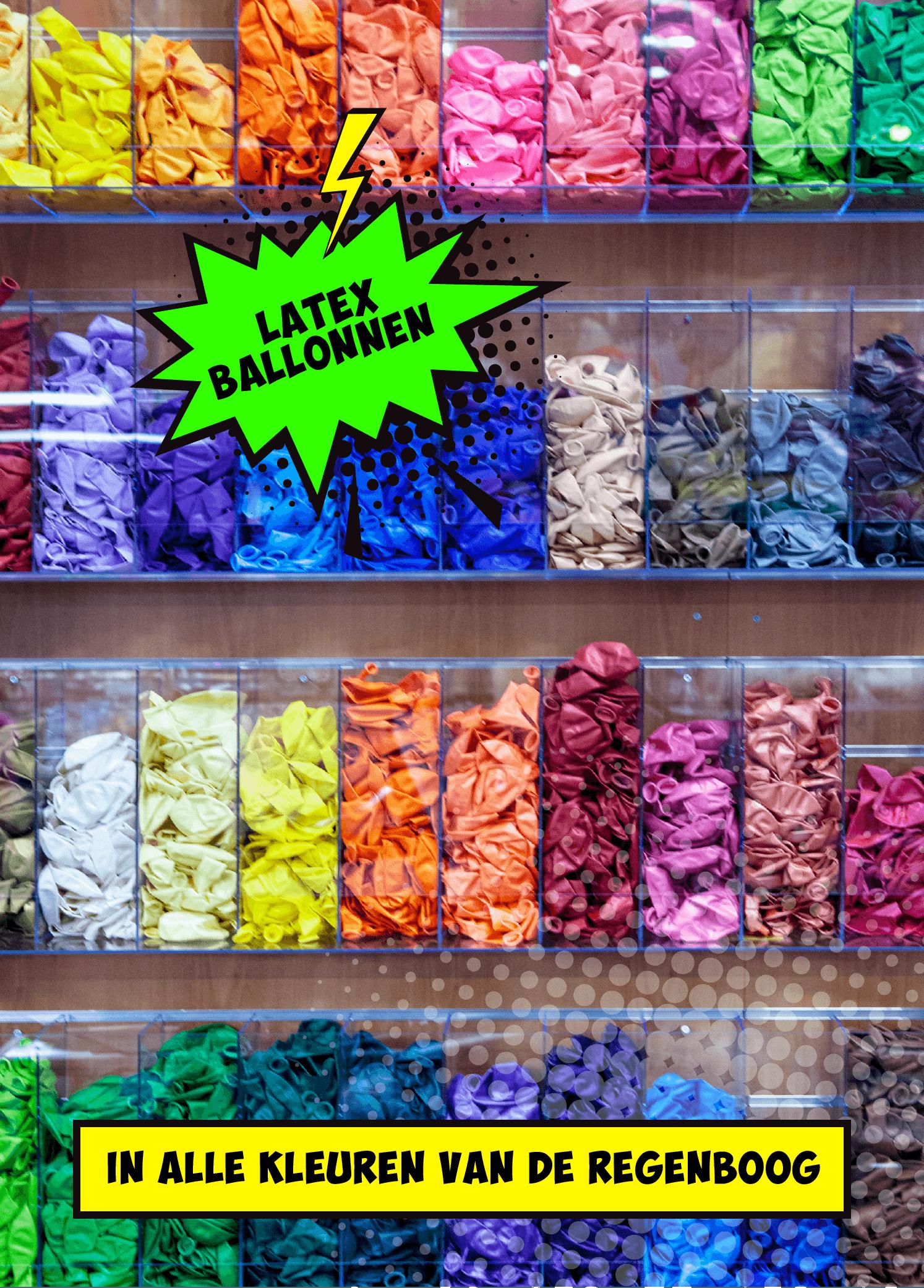 Latex ballonnen in alle kleuren en maten vindt je bij koorn&co uit Rotterdam