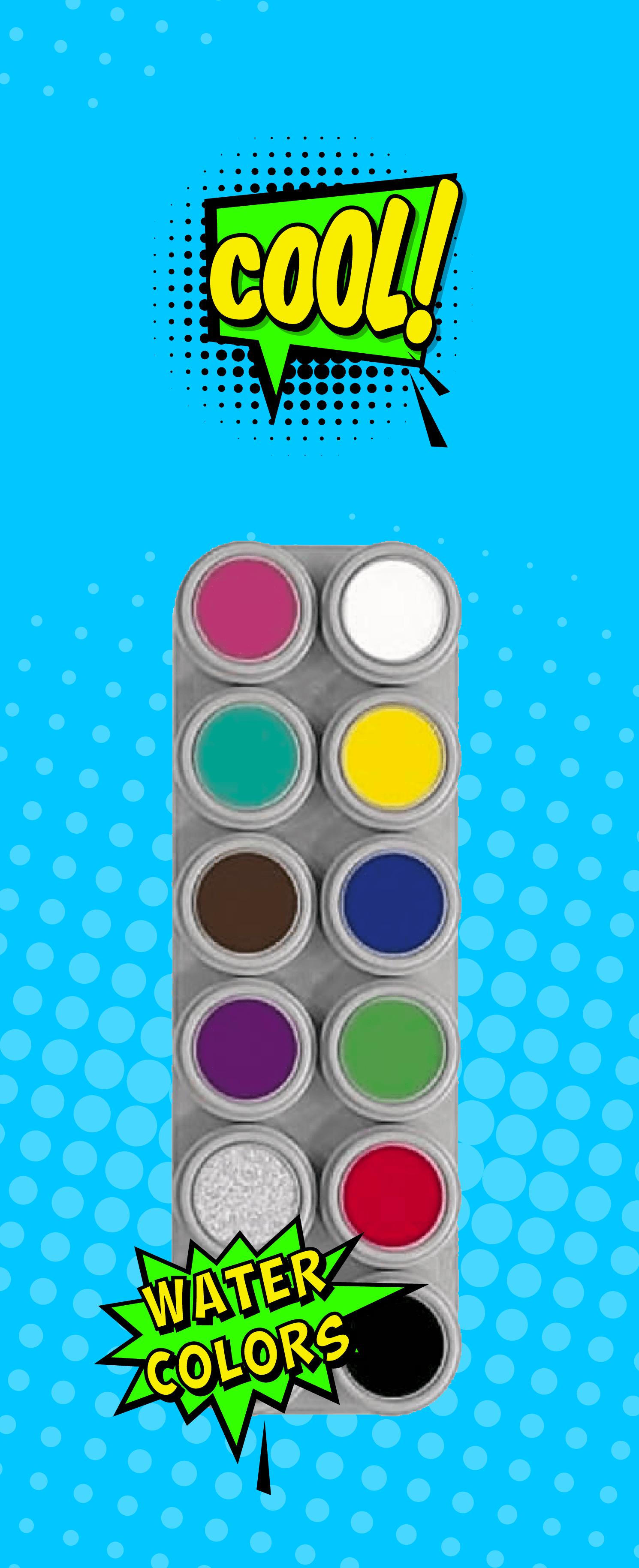 Water colour schminck van Grimas in alle kleuren van de regenboog is te koop bij KOORN & CO uit Rotterdam